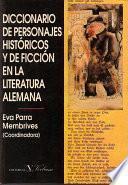 libro Diccionario De Personajes Históricos Y De Ficción En La Literatura Alemana