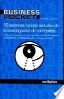 libro 18 Axiomas Fundamentales De La Investigación De Mercados