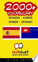 libro 2000+ Spanish   Khmer Khmer   Spanish Vocabulary