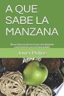 libro A Que Sabe La Manzana