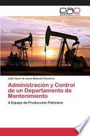 libro Administración Y Control De Un Departamento De Mantenimiento