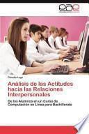 libro Análisis De Las Actitudes Hacia Las Relaciones Interpersonales