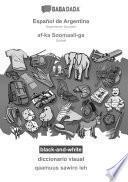libro Babadada Black-and-white, Español De Argentina - Af-ka Soomaali-ga, Diccionario Visual - Qaamuus Sawiro Leh