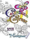 libro Calendario De Colorear 2018 Mariposas