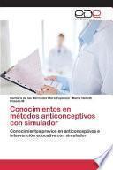 libro Conocimientos En Métodos Anticonceptivos Con Simulador