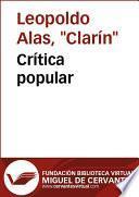 libro Crítica Popular