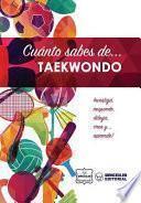 libro Cuánto Sabes De... Taekwondo