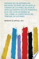 libro Defensa De Los Editores Del Nacional De París