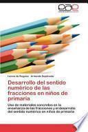 libro Desarrollo Del Sentido Numérico De Las Fracciones En Niños De Primari