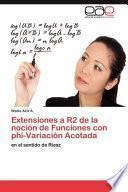 libro Extensiones A R2 De La Noción De Funciones Con Phi Variación Acotada