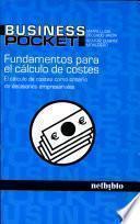 libro Fundamentos De Cálculo De Costes.