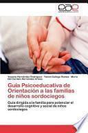 Guía Psicoeducativa De Orientación A Las Familias De Niños Sordociegos