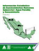 libro Información Estadística De Asentamientos Humanos. Subsector: Agua Potable Y Saneamiento. Cuaderno Número 2