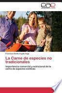 libro La Carne De Especies No Tradicionales