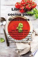 libro Libro De Cocina Para Diabéticos