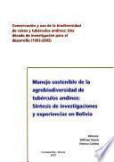 libro Manejo Sostenible De La Agrobiodiversidad De Tubérculos Andinos