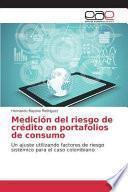 libro Medición Del Riesgo De Crédito En Portafolios De Consumo
