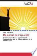 libro Memorias De Mi Pueblo