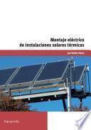 libro Mf0603_2 Montaje Eléctrico De Instalaciones Solares Térmicas