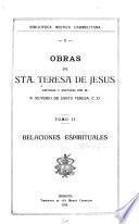 libro Obras De Sta. Teresa De Jesús: Relaciones Espirituales