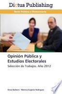 libro Opinión Pública Y Estudios Electorales