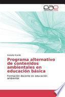 libro Programa Alternativo De Contenidos Ambientales En Educación Básica