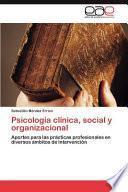 libro Psicología Clínica, Social Y Organizacional