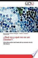 libro ¿qué Es Y Qué No Es Un Cluster?