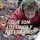 libro Que Son Los Lujos Y Necesidades? (what Are Wants And Needs?)