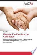 libro Resolución Pacífica De Conflictos