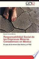 libro Responsabilidad Social De Las Empresas Mineras Canadienses En México