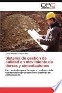 libro Sistema De Gestión De Calidad En Movimiento De Tierras Y Cimentaciones