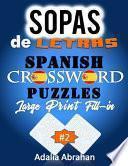 libro Sopas De Letras Spanish Crossword Puzzles Large Print Fill-in