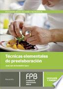 libro Técnicas Elementales De Preelaboración