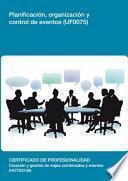 libro Uf0075   Planificación, Organización Y Control De Eventos