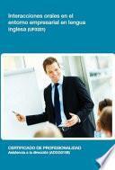 libro Uf0331   Interacciones Orales En El Entorno Empresarial En Lengua Inglesa