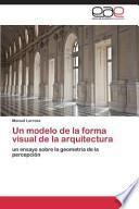 libro Un Modelo De La Forma Visual De La Arquitectura