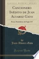 libro Cancionero Inédito De Juan Alvarez Gato