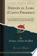 libro Hernán El Lobo (canto Primero)