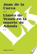 libro Llanto De Adonis En La Muerte De Venus