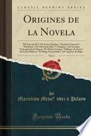 libro Origines De La Novela, Vol. 4