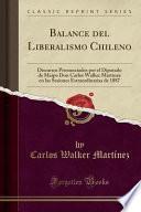 libro Balance Del Liberalismo Chileno