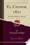 libro El Censor, 1821, Vol. 8