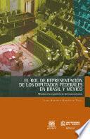 libro El Rol De Representación De Los Diputados Federales En Brasil Y México