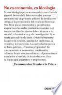 libro No Es Economía, Es Ideología