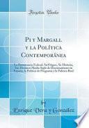 libro Pi Y Margall Y La Política Contemporánea