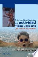 libro Intervención Psicológica En Actividad Física Y Deporte