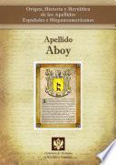 libro Apellido Aboy