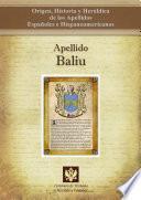 libro Apellido Baliu