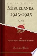 libro Miscelanea, 1923 1925, Vol. 3